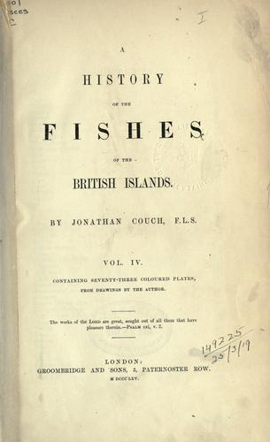Download A history of the fishes of the British Islands.