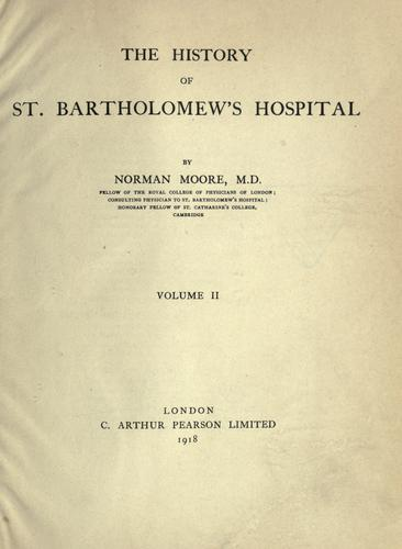 Download The history of St. Bartholomew's hospital