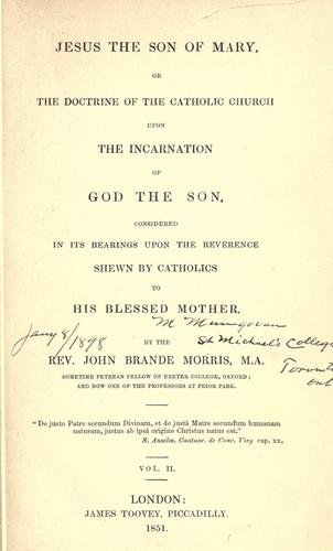 Jesus the son of Mary