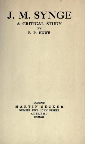 J. M. Synge; a critical study