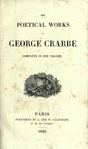 The Poetical works of George Crabbe