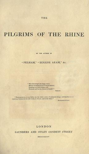 Download The pilgrims of the Rhine.