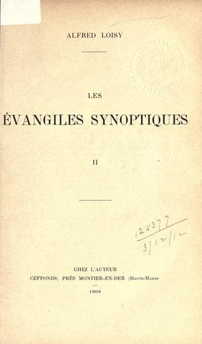 Les évangiles synoptiques