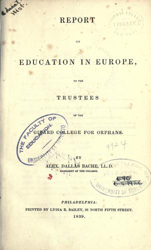 Download Report on education in Europe