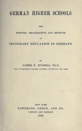 Download German higher schools