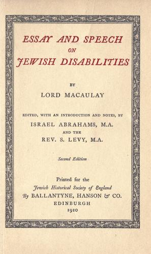 Download Essay and speech on Jewish disabilities