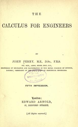Download The calculus for engineers.