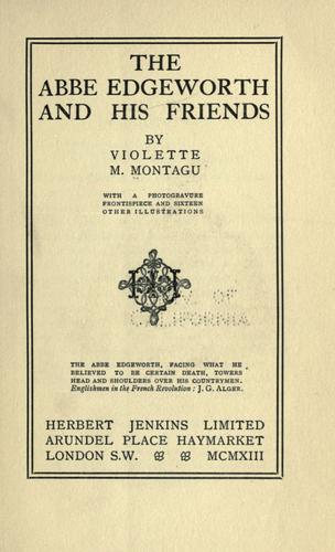 The Abbé Edgeworth and his friends