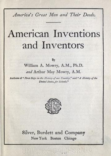 American inventions and inventors
