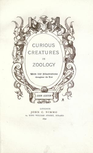 Download Curious creatures in zoology