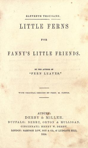 Download Little ferns for Fanny's little friends.