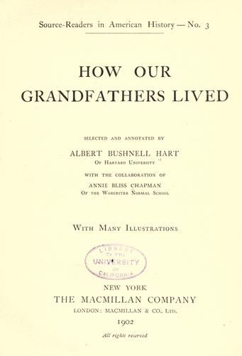 Download How our grandfathers lived