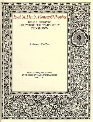 Download Ruth St. Denis, pioneer & prophet
