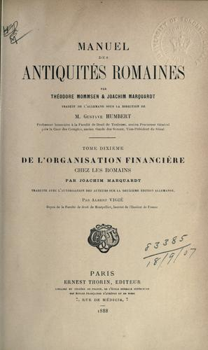 Download Manuel des antiquités romaines