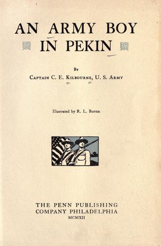 An army boy in Pekin