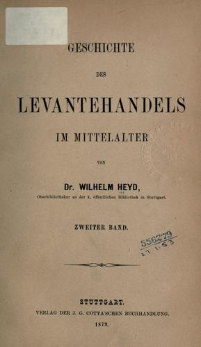 Download Geschichte des Levantehandels im Mittelalter