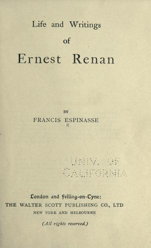Download Life of Ernest Renan
