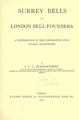Surrey bells and London bell founders