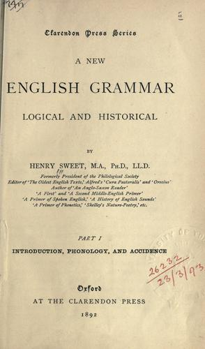 Download A new English grammar, logical and historical.