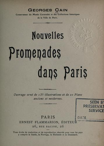 Download Nouvelles promenades dans Paris.