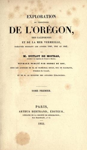 Download Exploration du territoire de l'Orégon, des Californies et de la mer Vermeille