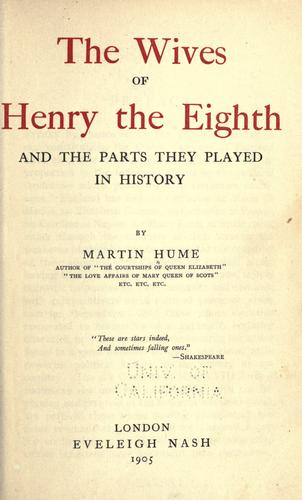 Download The wives of Henry the Eighth
