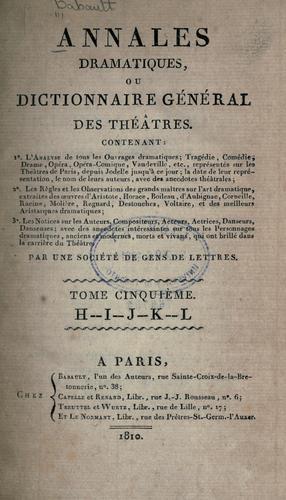 Download Annales dramatiques