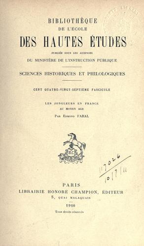 Download Les jongleurs en France au moyen âge.