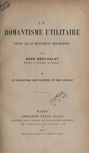 Download Un romantisme utilitaire