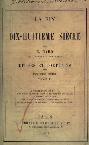 Download La fin du dix-huitième siècle