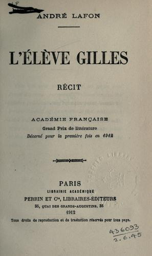 L' élève Gilles