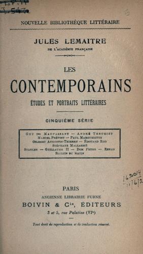 Les contemporains