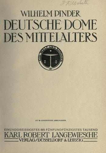 Download Deutsche Dome des Mittelalters