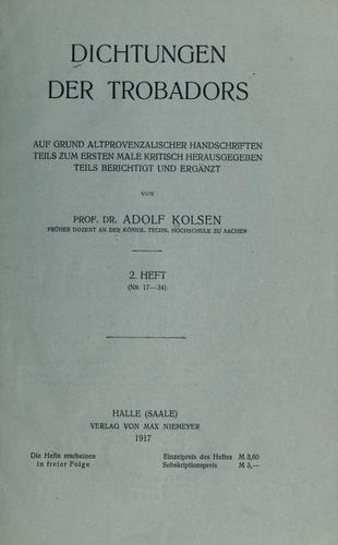 Download Dichtungen der Trobadors