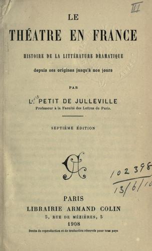 Le théâtre en France