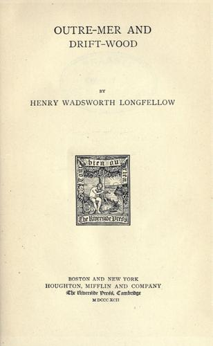 Download The prose works of Henry Wadsworth Longfellow