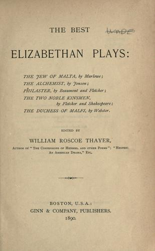 The best Elizabethan plays …