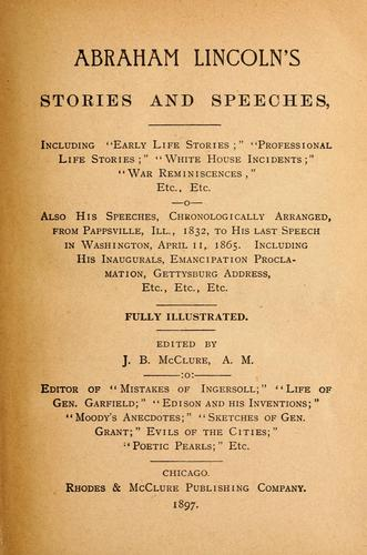 Download Abraham Lincoln's stories and speeches