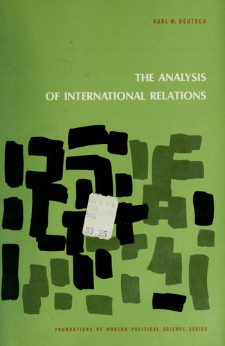 Download The analysis of international relations