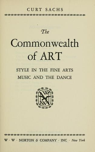 Download The commonwealth of art