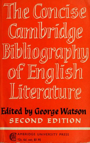 Download The concise Cambridge bibliography of English literature, 600-1950.