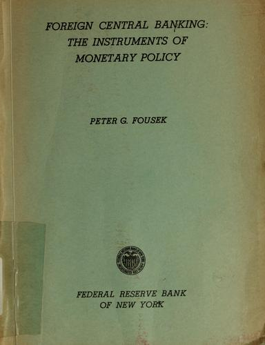 Download Foreign central banking