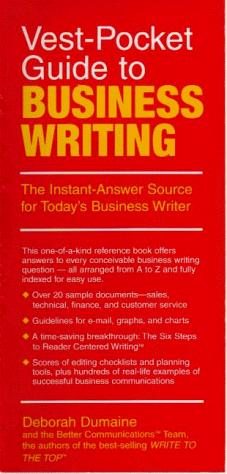Download Vest-pocket guide to business writing