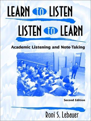 Download Learn to listen, listen to learn