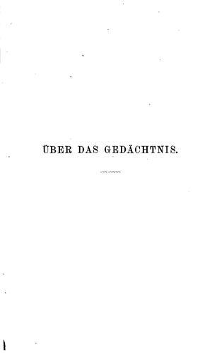 Download Über das Gedächtnis.