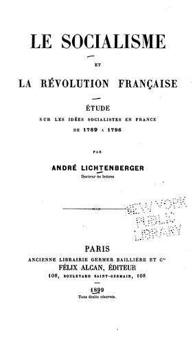 Download Le socialisme et la révolution française.