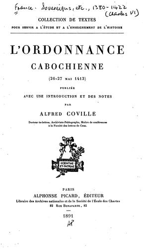 Download L'o rdonnance cabochienne (26-27 mai 1413)