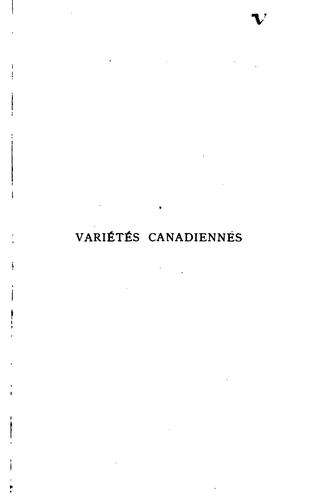 Download Variétés canadiennes
