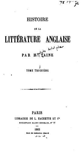 Download Histoire de la littérature anglaise