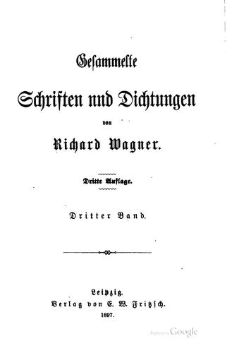 Gesammelte Schriften und Dichtungen